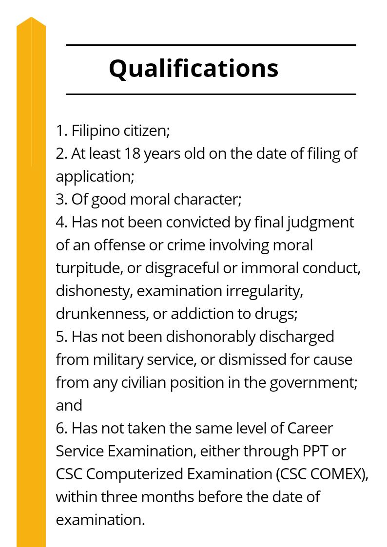 Civil Service Exam Qualification
