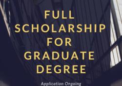 Scholarship for graduate degree