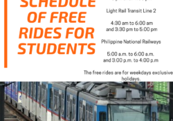 Schedule of free rides for Students