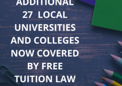 Additional 27 LUCs now with free tuition