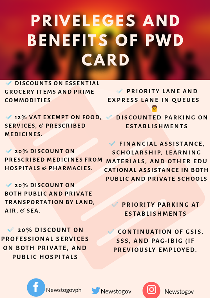 PWD card benefits