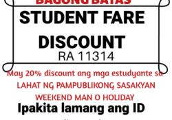Student Fare Discount