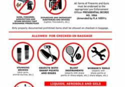 prohibited items on airport