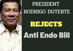 duterte rejects anti endo bill