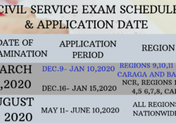 Civil Service Exam Schedule 2020