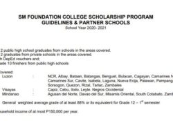 sm partner schools scholarship