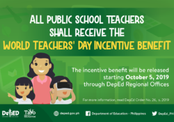 Deped incentives to teachers
