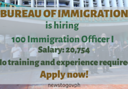 Bureau of Immigration hiring