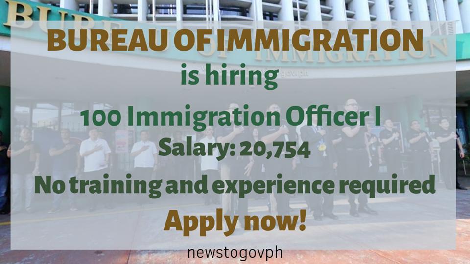 Bureau of Immigration hiring