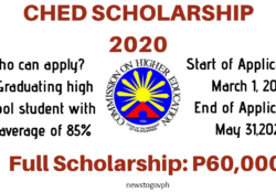 Ched Scholarship 2020