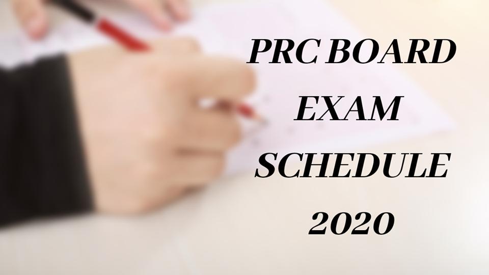 PRC Board exam 2020