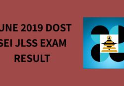 DOST JLSS Exam Result 2019