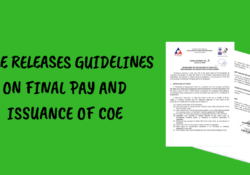 DOLE issues Final Pay and COE guidelines