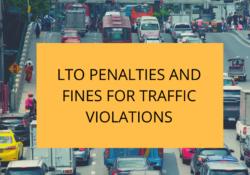 LTO finesand Penalties