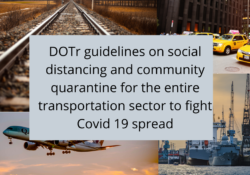 DOTr guidelines on sovial distancing