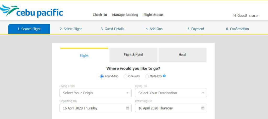 Cebu Pacific Manage booking