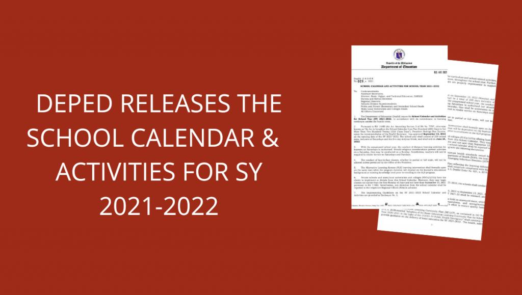 Deped School Calendar 2021-2022