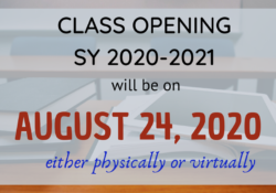 class opening 2020