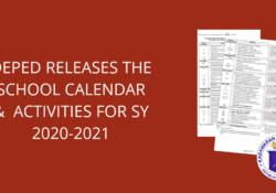 deped school calendar 2020