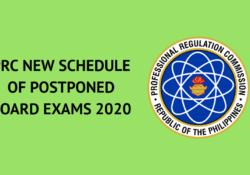 prc new schedule of postponed board exams