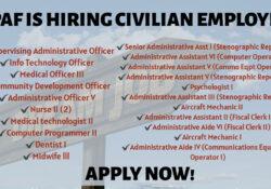 PAF civilian employee hiring 2020