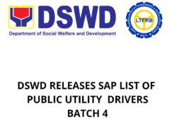 batch 4 sap list of drivers