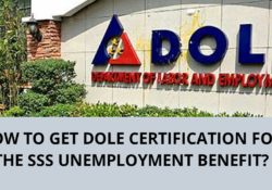 Dole Certification for unemployment benefit