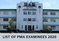 pma list of examinees 2020