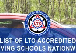 lto accredited driving schools