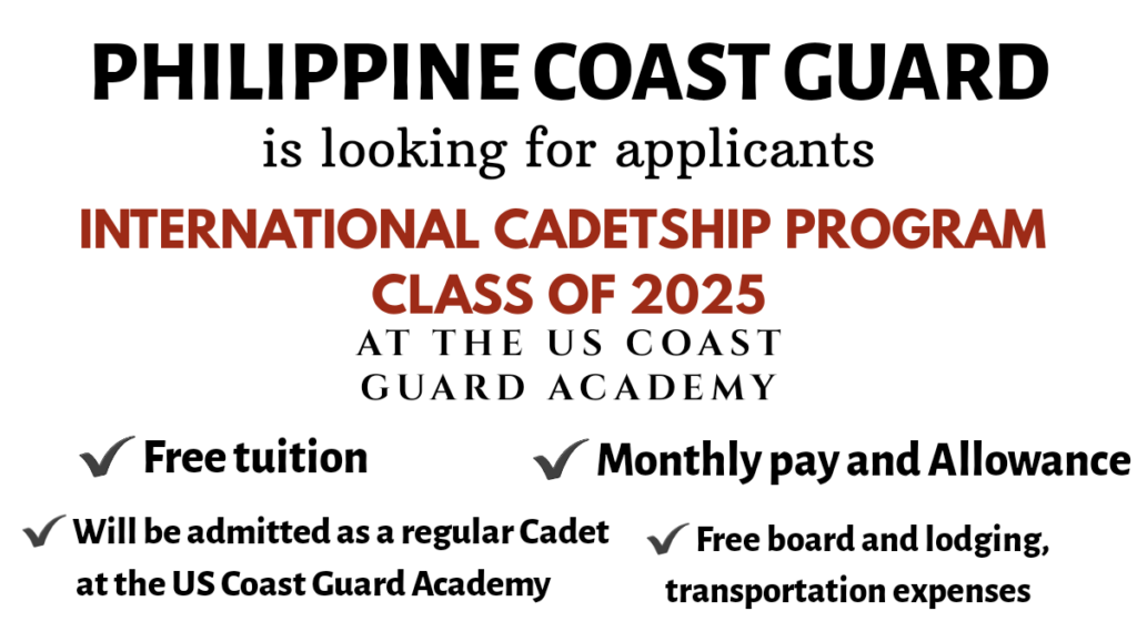 pcg international cadetship program