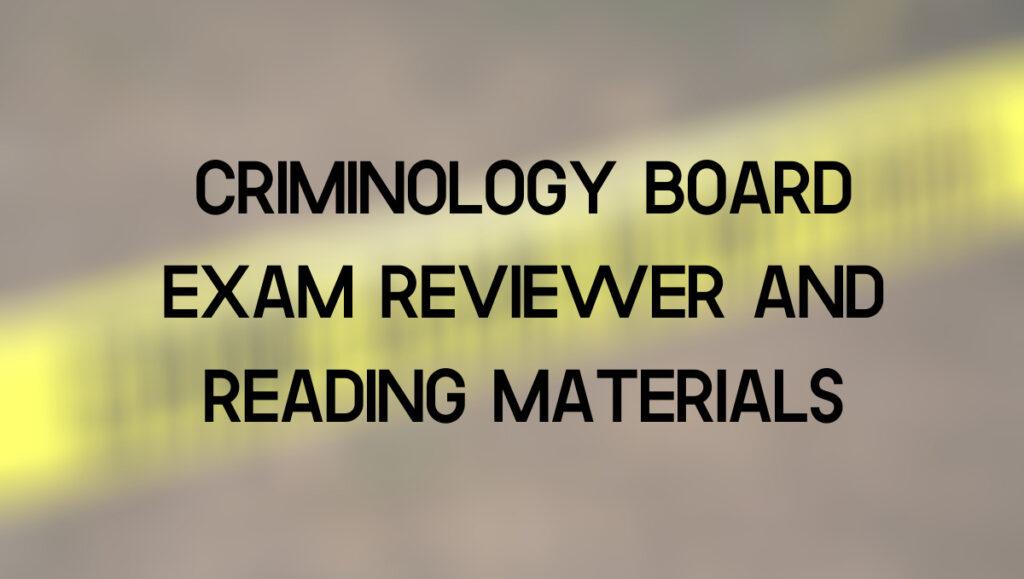 criminology reviewer