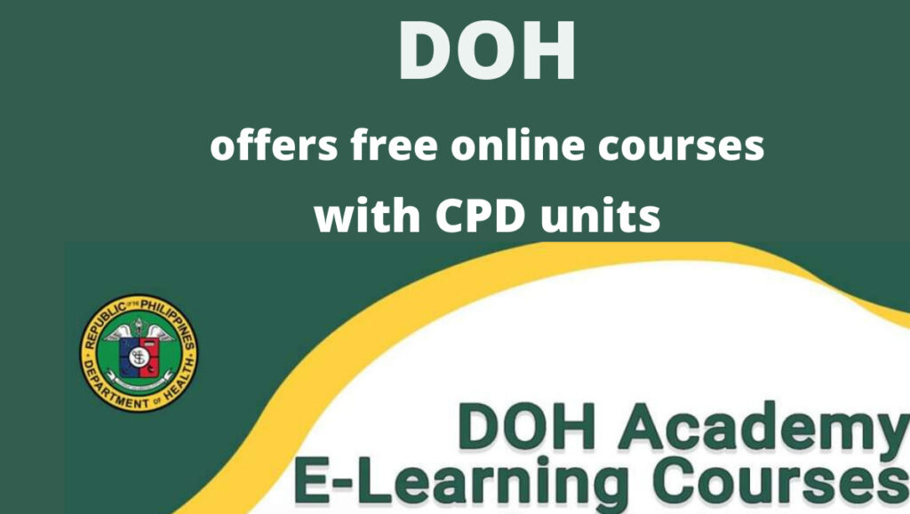 doh online courses with CPD units