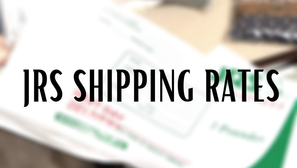 JRS Shipping Rates