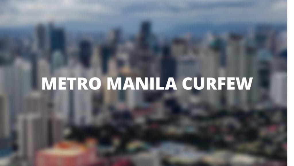 Curfew Metro Manila March 2021