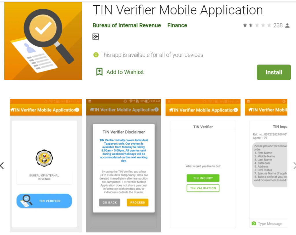 Tin Verifier Mobile App
