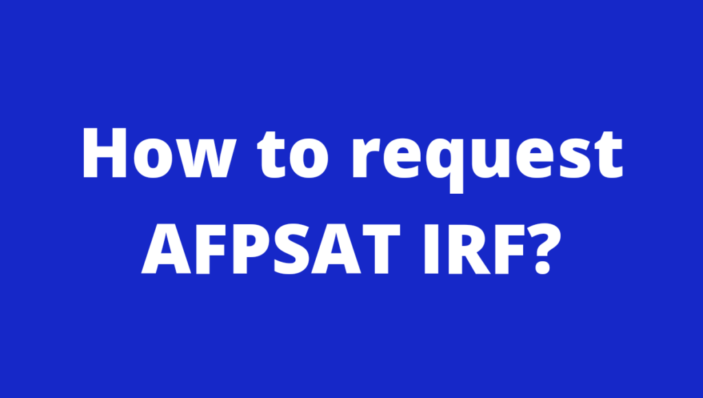 AFPSAT IRF