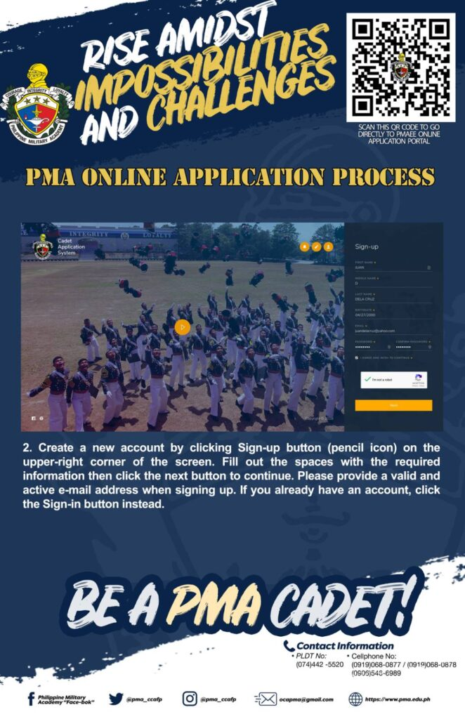 pma online application 2021