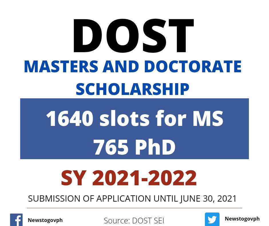 dost masteral scholarship