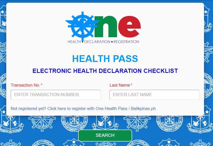 One Health pass registration
