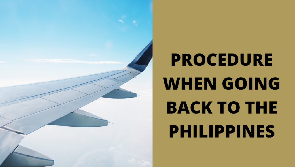 ofw guide in going home