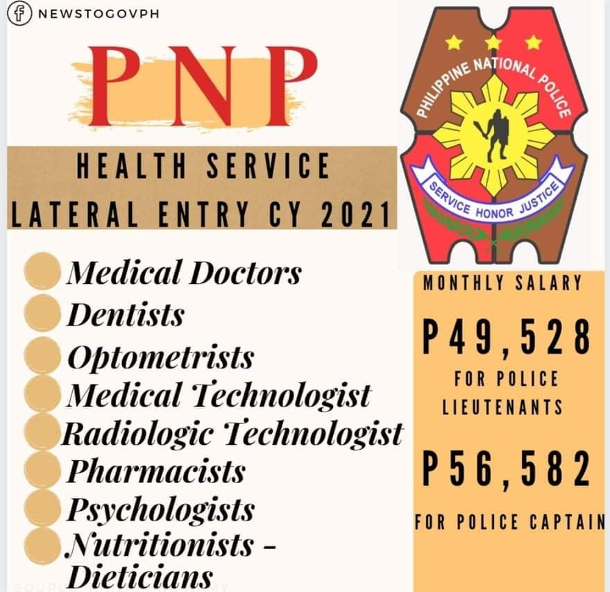 pnp health service lateral entry