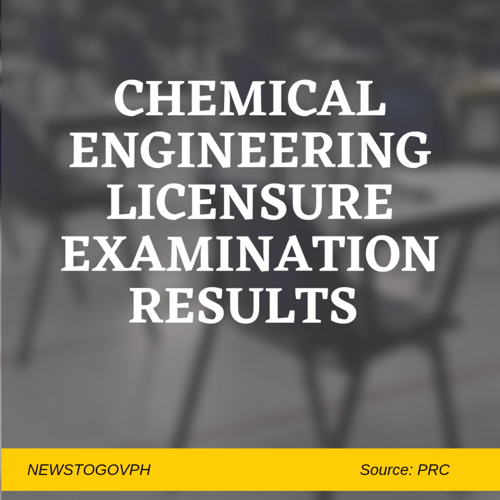 chemical engineering board exam result